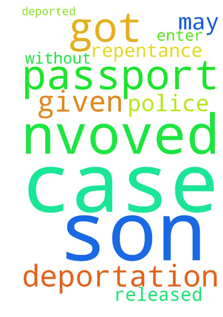 I ask to pray for my son who got I nvoved in a case - I ask to pray for my son who got I nvoved in a case and was released but his passport not given by police he may be deported and cannot enter again. Please pray for his repentance and also to get passport without deportation. Posted at: https://prayerrequest.com/t/otb #pray #prayer #request #prayerrequest