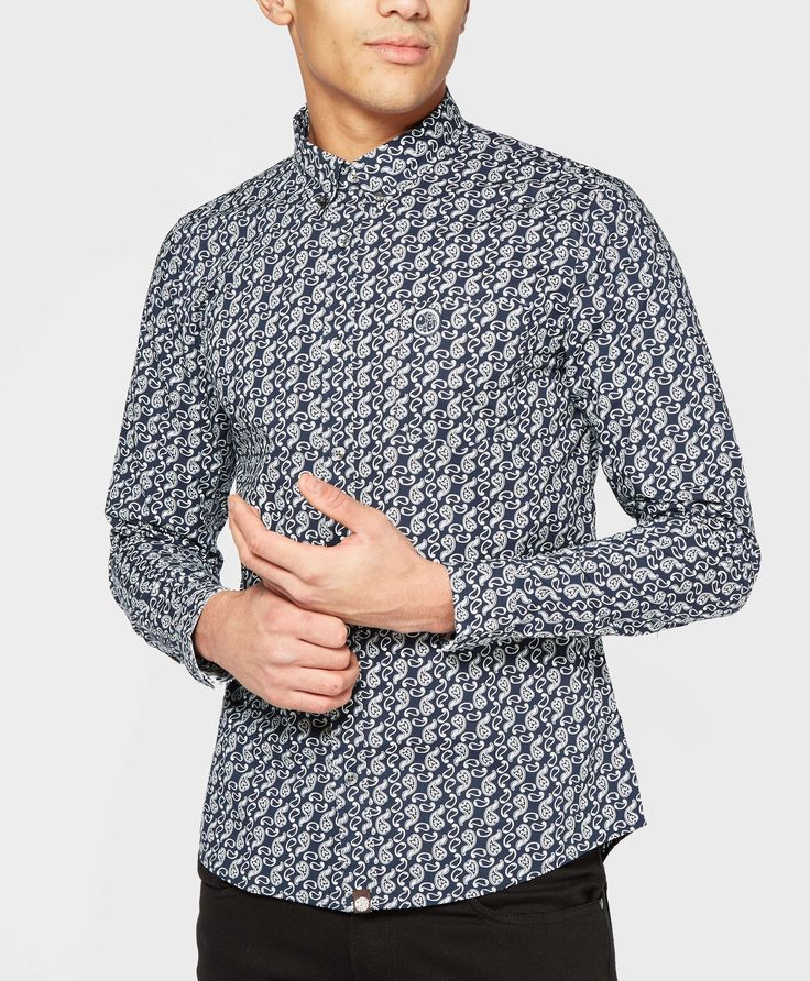 Pretty Green Paisley Long Sleeve Shirt - The Brand Authority, scotts Menswear, brings you the latest clothing, footwear and accessories from top menswear brands.