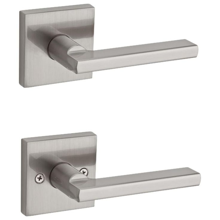 Kwikset Kwikset Signatures Halifax Satin Nickel Universal Passage Door Handle Lowes Com In 2020 Door Handles Kwikset Kwikset Halifax