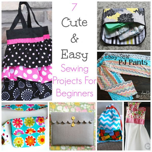 7 cute easy sewing projects for beginners popular for Easy crafts for beginners