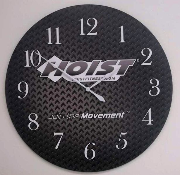 add your business logo to a large wall clock great for corporate gifts too