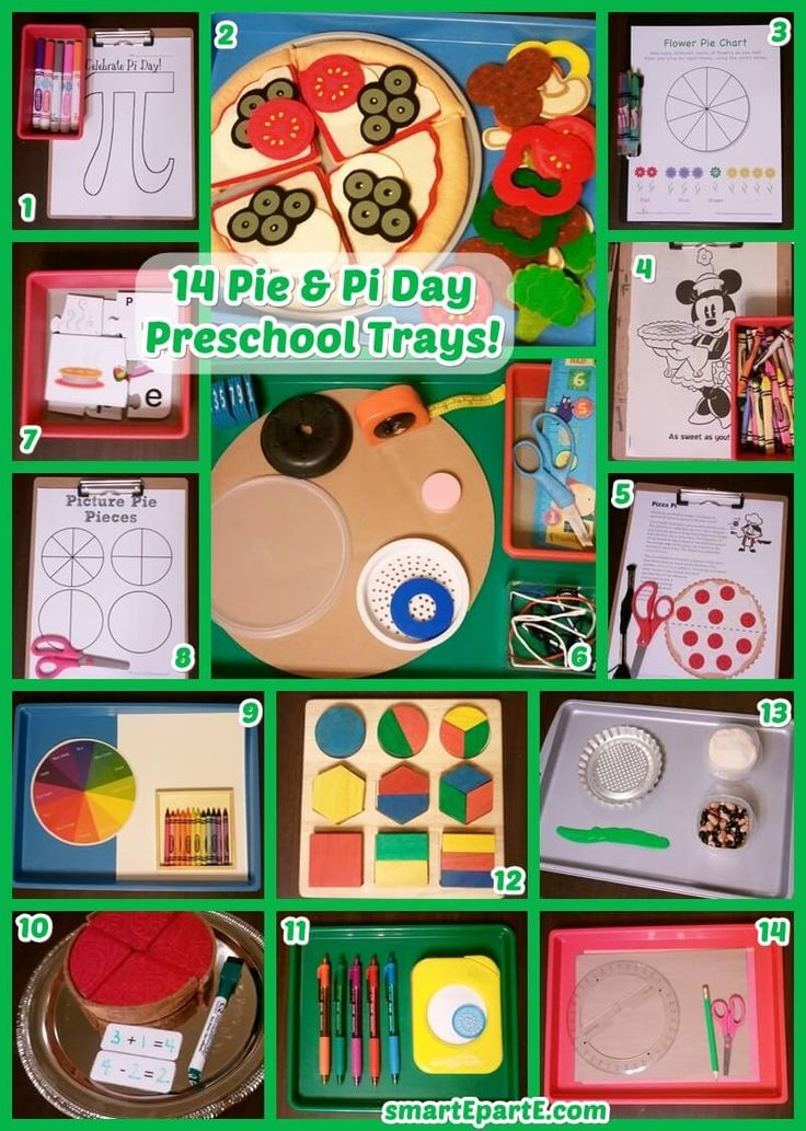 We make Pi a bit more relatable to preschoolers with the help of Pie in this fun week of 14 Preschool Pi and Pie Trays! Toys, repurposed items, and great printables round out a great week!