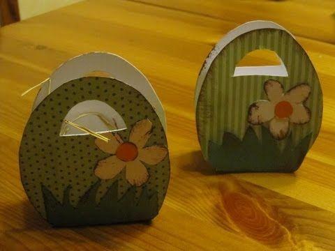 OSTERBASTELN: Osterkörbchen aus Papier basteln - Bastelideen Ostern - Osterdeko - YouTube