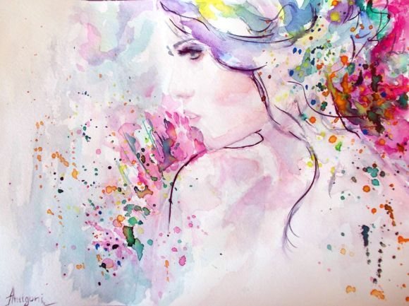 Spring II -Original watercolor painting