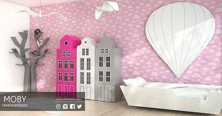 Uçan Balon Temalı Çocuk Odası Projesi 😍 #3DMax  #cocukodasi #cocukodalari #gencodasi #gencodalari #ucanbalon #kidsroom #kidsdecor #decor #decoration #interior #interiorfurniture #interiordesign #design #dekor #dekorasyon #icmimar #icmimarlik #tasarim #mobilya #furniture #denizli #instalike #instagood #instastyle #style