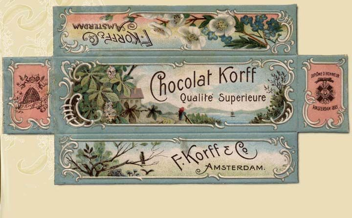 Cocoa from Amsterdam, by Korff for the Belgian and French market. 1918.