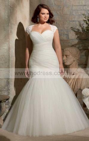Mermaid Cap Sleeves Sweetheart Lace-up Floor-length Wedding Dresses flbf1014--Hodress