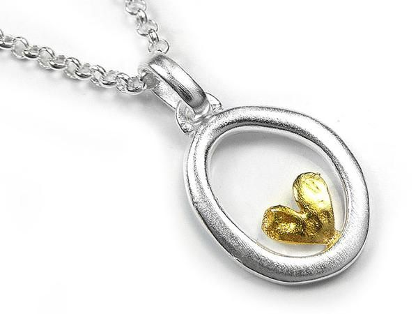 Silver Pendant - Cherished Heart
