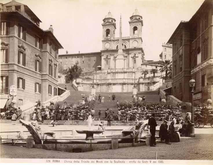 Chiesa della Trinità dei Monti   Année : Circa 1875