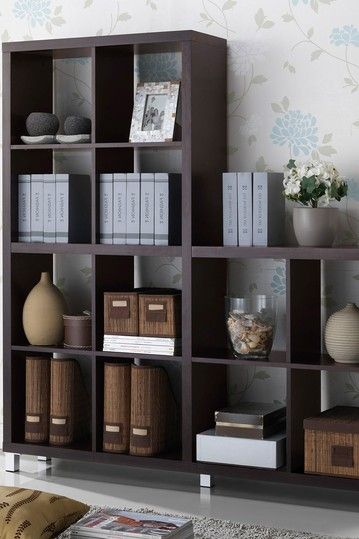 Sunna Dark Brown Modern Cube Shelving Unit by Wholesale Interiors on @HauteLook