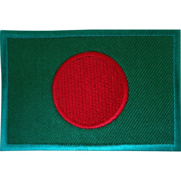 Embroidered Iron On Bangladesh Flag Patch Sew On Bangladeshi Badge India Dhaka