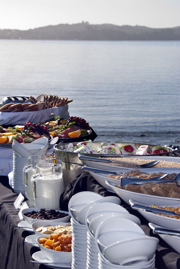 Breakfast buffet under the palms at Copthorne Bay of Islands #food #travel #hotel