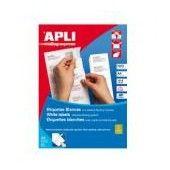 ETIQUETAS ADHESIVAS A-4 63.5x46.6MM (25 HOJAS).Caja etiquetas blancas, cantos romos y permanentes.Tamaño 63.5x46.6mm.  Para impresoras Inkjet, Láser y Fotocopiadoras.