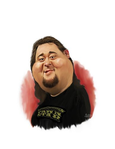 Cartoon: Pawn star Chumlee (medium) by rocksaw tagged caricature,chumlee