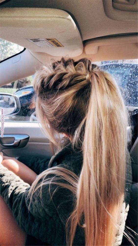 40 idées de coiffure rapides qui vous font gagner du temps à copier dès maintenant coiffure facile et rapide