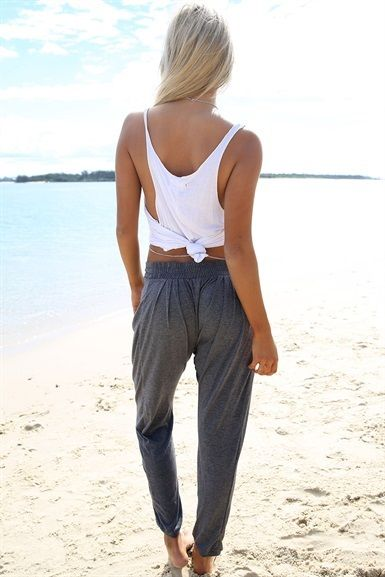 Charcoal Lounge Pants | SABO SKIRT