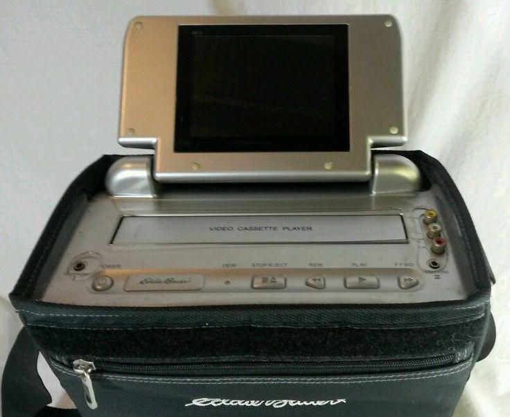 "Eddie Bauer VHS Player Flip Up 5"" LCD TV Portable Car"