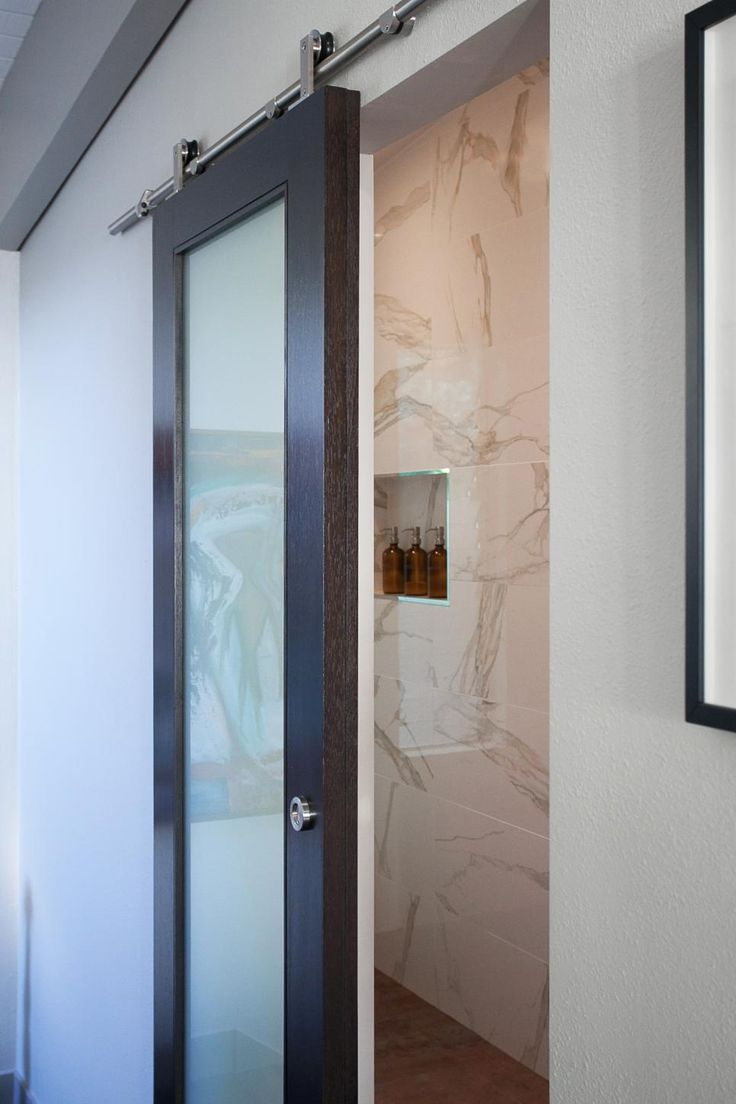 17 best images about 5a on pinterest shelves columns for Glass barn door for bathroom
