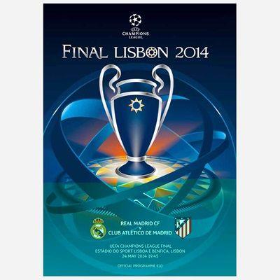 Real Madrid Final Programme - 2014: UEFA Champions League Final Programme - 2014Real Madrid CF face Club… #RealMadridShop #RealMadridStore