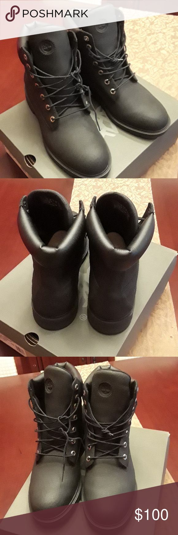 Men's timberland leather boots 10 Worn once without original box Timberland Shoes Boots