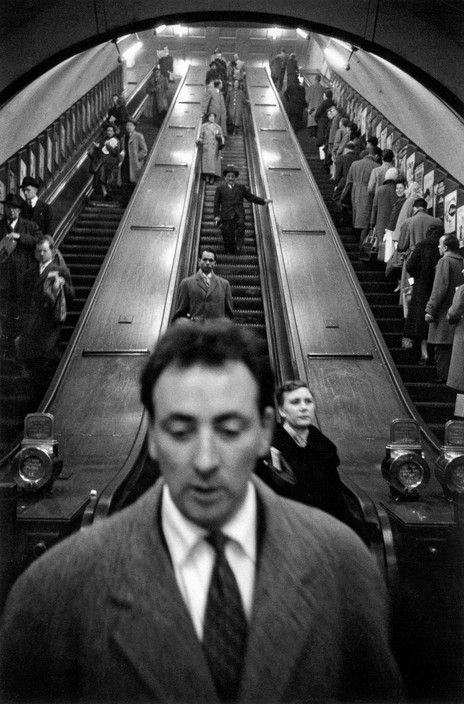 Sergio Larrain (Chilean, 1931-2012) - GB. ENGLAND. London. Baker Street underground station. 1958-1959   Magnum Photos