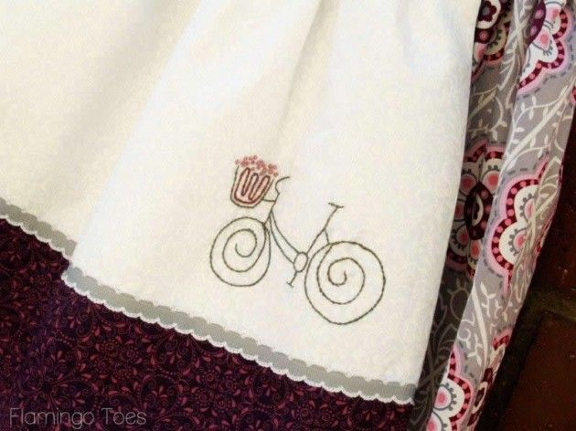 bicycle embriodery pattern