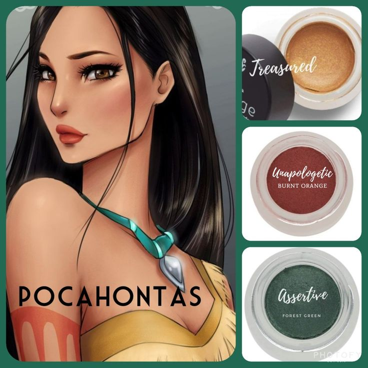#pocahontas inspired #makeup: #metallic gold (treasured, limited edition), paired with #matte burnt orange (unapologetic) and #shimmer forest green (assertive). Get yours as part of the December 2017 kudos at www.taniaslashes.com. #splurge #taniaslashes #younique #princess #cartoon