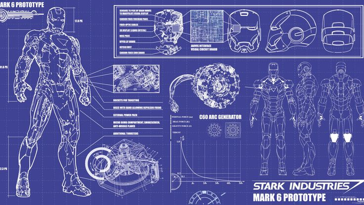 Iron Man Arc Reactor Blueprints | iron man, blueprint - 1600x900px