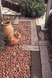 Australian railway sleeper landscaping 18