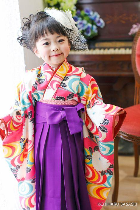 3歳女児アンティーク風着物&袴レンタル 七五三 うたかた いちは