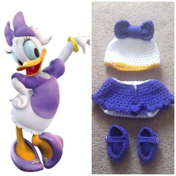 Crochet Daisy Duck Inspired Outfit by Potterfreakg on Etsy