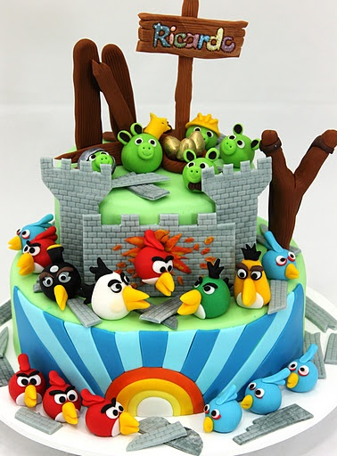 Angry Birds: Cakes Alici, Cakes Ideas, Angry Birds Cakes, Cakes Cupcakes, Amazing Cakes, Cakes Decor, Awesome Angry, Children Cakes, Birthday Cakes