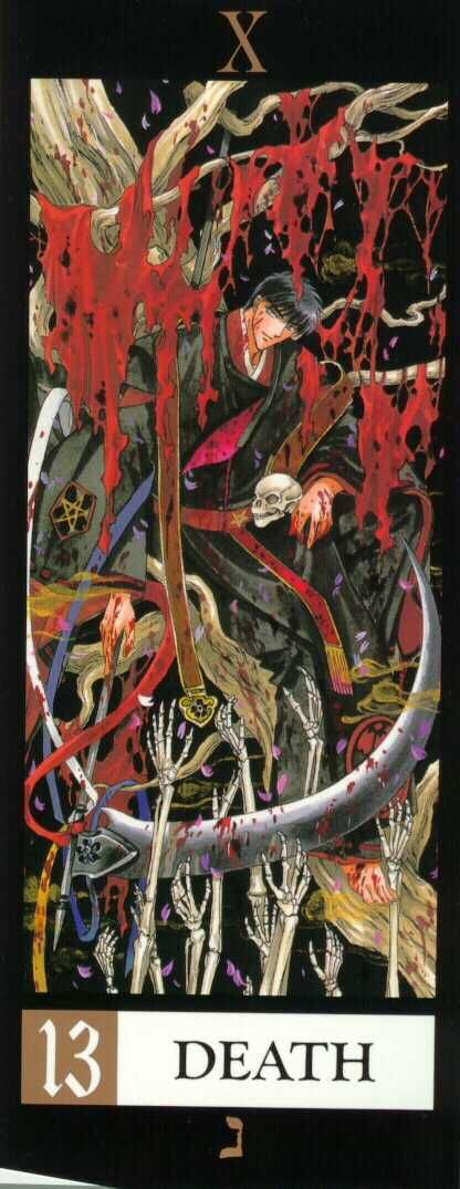 """Clamp X Tarot  """"Death""""  (I enjoyed """"The Devil"""" card as well but it's NSFW so I figured it wasn't safe for pinterest either)"""