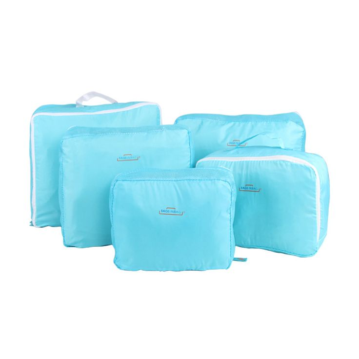 5 PCS/Set Fashion Durable Waterproof Polyester Travel Bags For Men Women Luggage Underwear Clothing Sorting Bag Packing Cubes