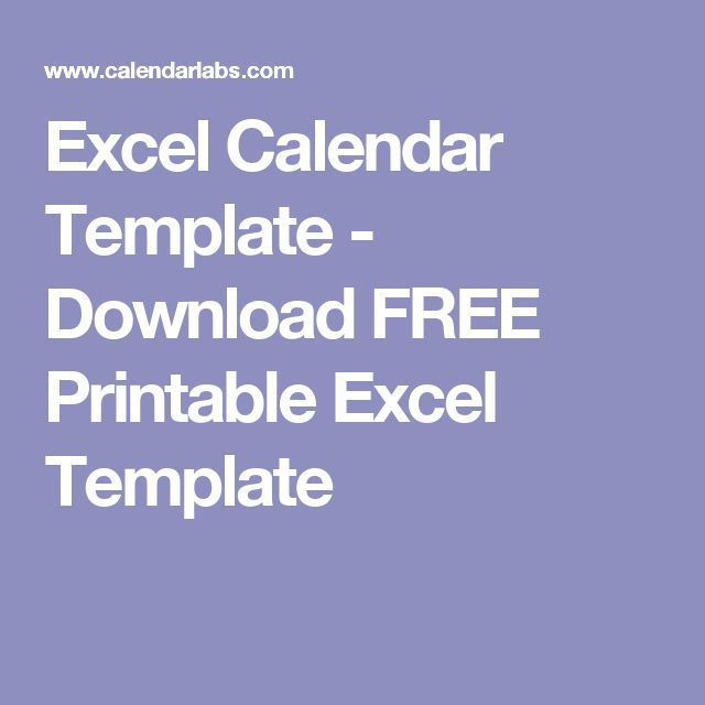 Best  Excel Calendar Template Ideas On   Excel
