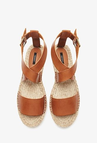 Faux leather espadrille sandals | theglitterguide.com