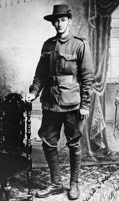 WWI, 3 Dec 1916; Gunner Hugh A Leffler, AIF,  killed in France, age 24. ©IWM