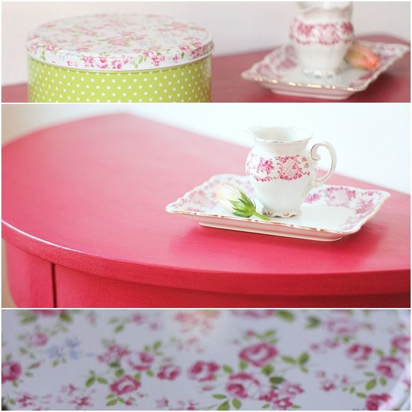 vinterio furniture details pink green chalck paint decor paint dots