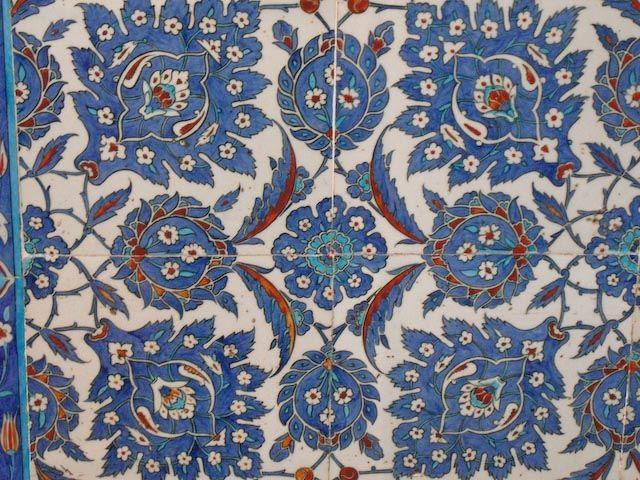 Turkish tiles, Rustem Pasha Mosque, İstanbul, Türkey.