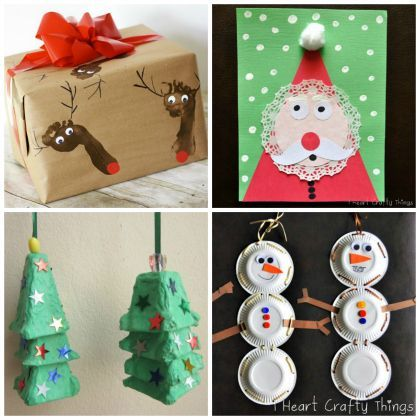 Oh what Fun : 16 Easy Kids Christmas Crafts  Easy DIY with your family. For more ideas connect with us on Pinterest or visit www.myuglychristmassweater.com!