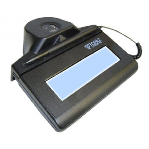 TOPAZ SYSTEMS IDGEM LCD 1X5 USB INCLUDES [TF-LBK464-HSB-R]. Topaz IDGem TF-LBK464-HSB-R 1x5 LCD USB Signature Capture Pad with Fingerprint Scanner. Software and manual may be downloaded for FREE at http://www.sigpluspro.com.