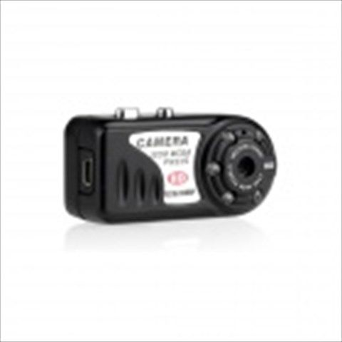 Mini Portable 5.0MP HD 1080P Camera Camcorder w/ USB / TF / 5-LED IR Night Vision - Black