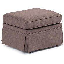 Best Chairs Charlotte Upholstered Ottoman  Tan