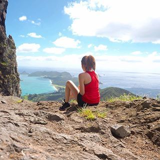 Views of Lord Howe Island from the clouds above 😍✨ thanks to all your local recommendations I had a ripper bike on hike on hike on bike yesterday to Goat House Cave. Worth the sore legs today! Share your NSW holidays with #ILoveNSW #NewSouthWales