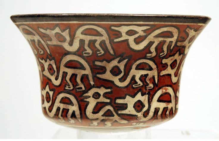 Nazca Pottery Polychrome Kero South Coast, Ca.100 to 400 AD.
