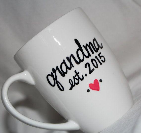 Pregnancy announcement mug grandma mug new grandma by TheQuirkyCup