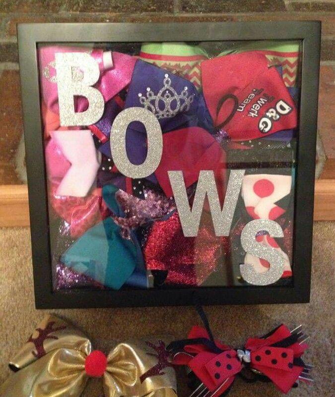 Shadow box of bows!!