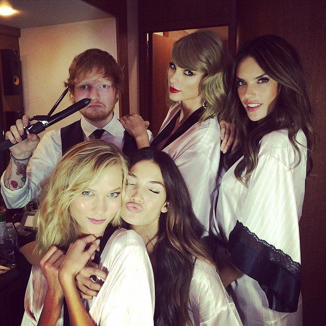 How Taylor Swift's Girl Squad Brings Their Beauty A-Game on Instagram - VOGUE // Swift with Ed Sheeran, Alessandra Ambrosio, Karlie Kloss, and Lily Aldridge