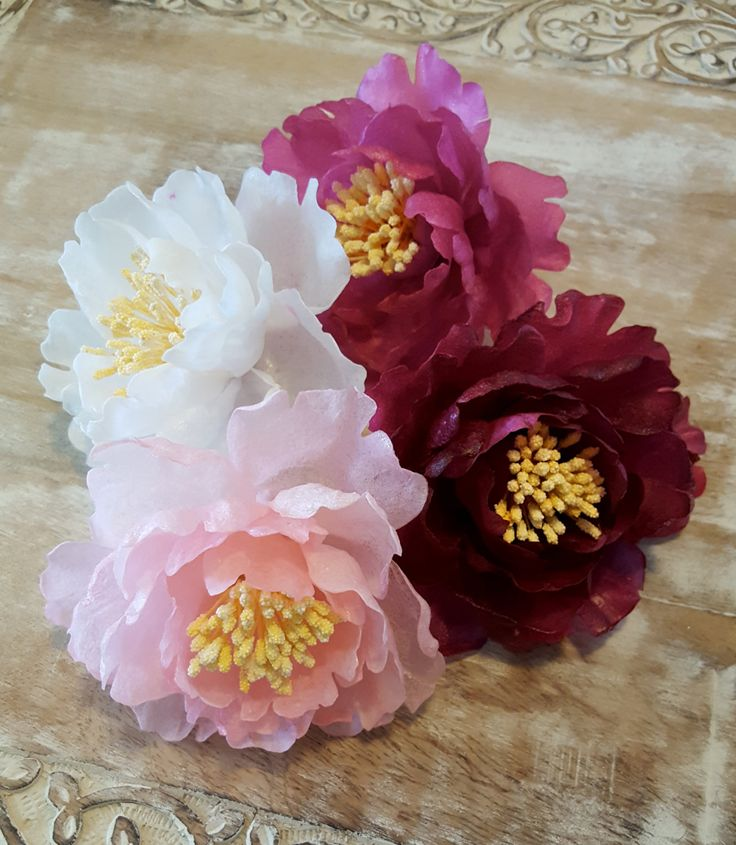 The 138 best wafer paper images on pinterest sugar flowers sugar edible peonies wafer paper flowers for cakes tree peonies by sweetsandstuffnapa on etsy mightylinksfo