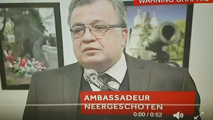 Russian ambassador to Turkey assassinated on LIVE TV